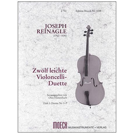 Reinagle, J.: 12 leichte Celloduette Band 1 (Nr. 1-7)