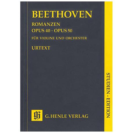 Beethoven, L. v.: Romanzen G-Dur Op. 40 und F-Dur Op. 50 – Partitur