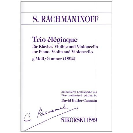 Rachmaninow, S.: Trio élégiaque g-Moll (1892)