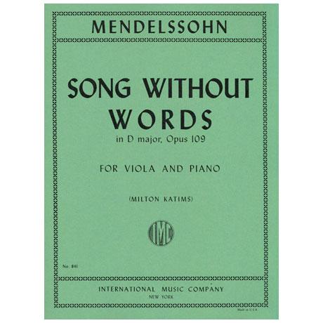 Mendelssohn Bartholdy, F.: Lied ohne Worte in D-Dur Op. 109