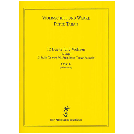 Taban, P.: Op. 6: 12 Duette für 2 Violinen Band 3