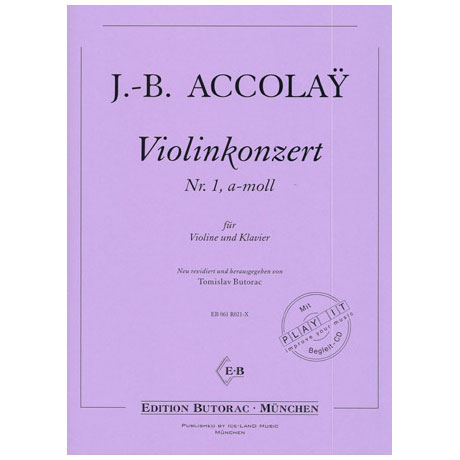 Accolay, J.B.: Violinkonzert Nr. 1 a-moll (+CD)