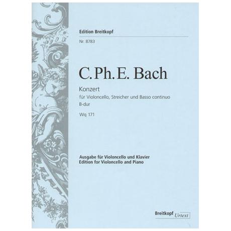 Bach, C. P. E.: Violoncellokonzert Wq 171 B-Dur