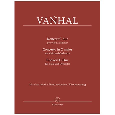 Vaňhal, J. K.: Konzert für Viola und Orchester C-Dur