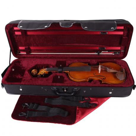 PACATO Livorno Violinetui 1/2 | schwarz/rot