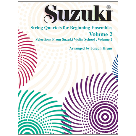 Suzuki String Quartets for Beginning Ensembles Vol. 2
