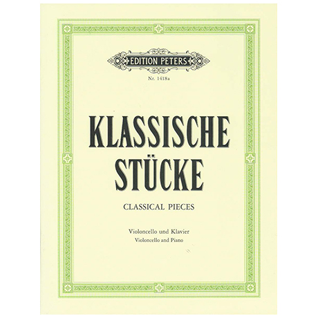 Klassische Stücke für Cello und Klavier, Band 1