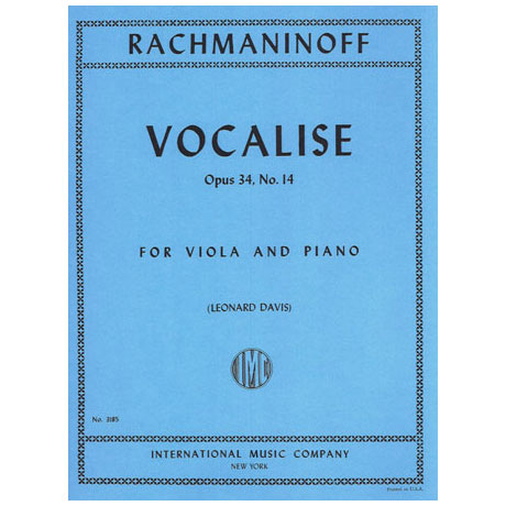 Rachmaninoff, S.: Vocalise op. 34/14