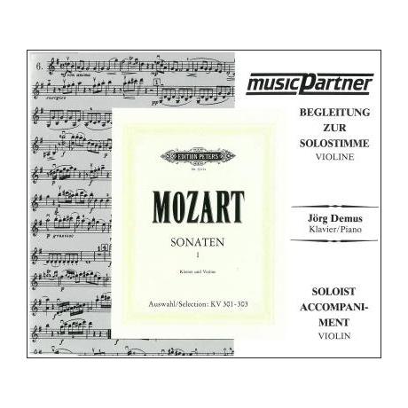 Mozart, W. A.: Sonaten Band 1 – Begleit-CD Nr. 1 KV 301-303