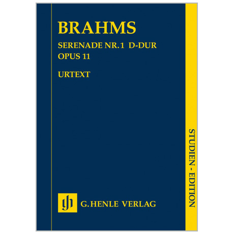 Brahms, J.: Serenade Nr. 1 Op. 11 D-Dur