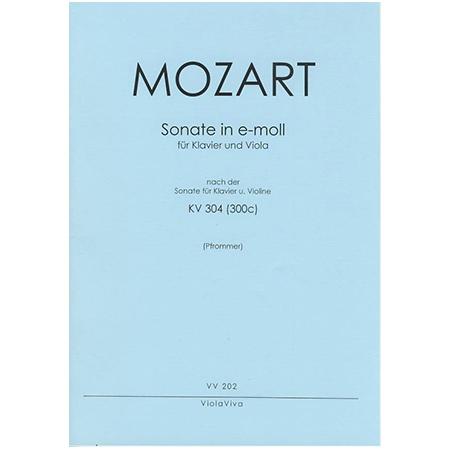 Mozart, W. A.: Violasonate e-Moll nach KV 304
