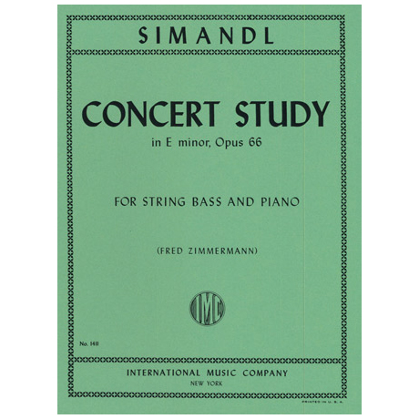 Simandl, F.: Concert Study in E minor, Op. 66
