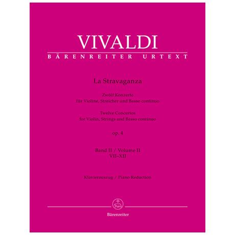 Vivaldi, A.: La Stravaganza Op. 4 – 12 Violinkonzerte Bd. 2 VII-XII