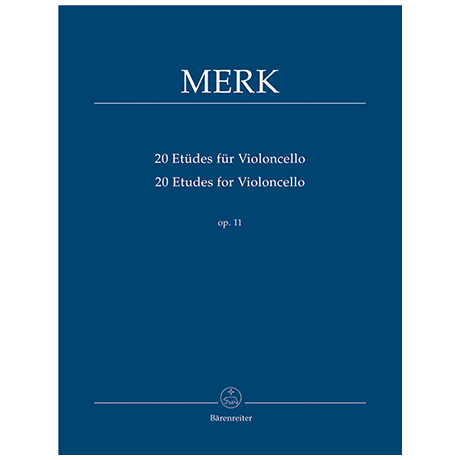 Merk, J.: 20 Etüden für Violoncello Op.11