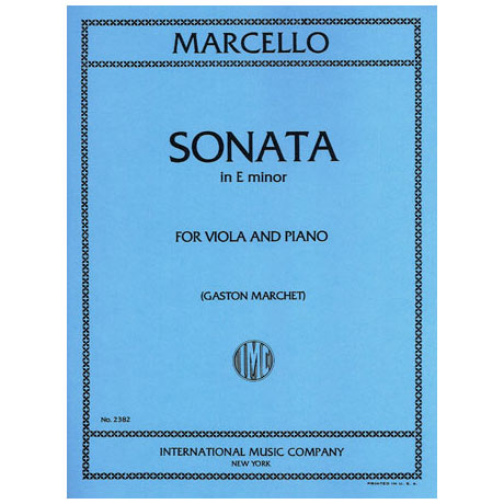 Marcello, B.: Sonate in e-moll
