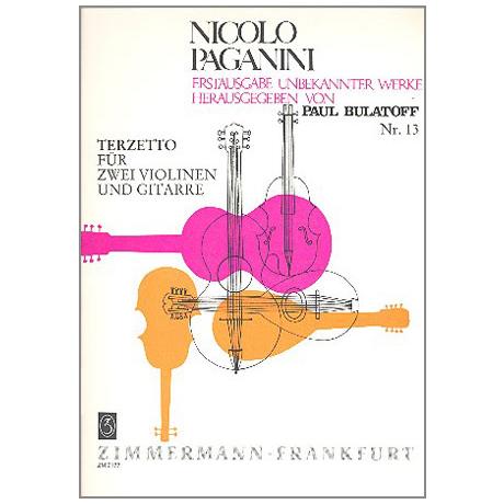 Paganini, N.: Terzetto a-moll