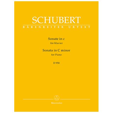 Schubert, F.: Sonate c-Moll D 958
