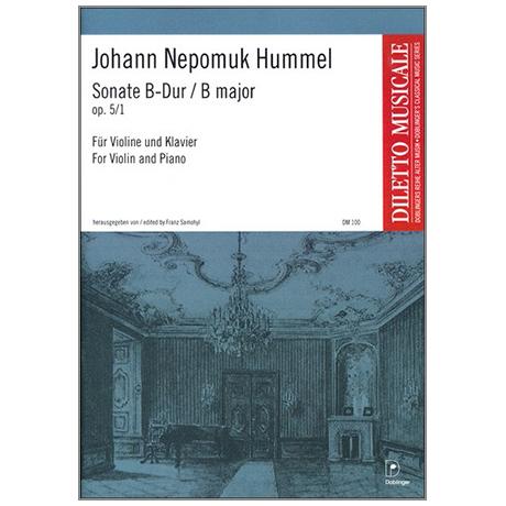 Hummel, J. N.: Violinsonate Op. 5/1 B-Dur