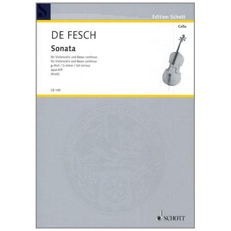 Fesch, W. d.: Sonata Op. 8/5 g-Moll