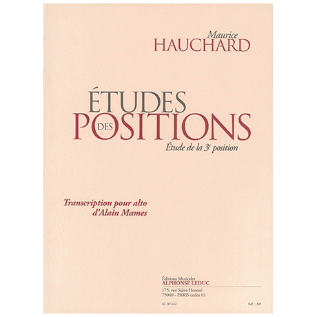 Hauchard, M.: Études des positions Band 1 (+CD)