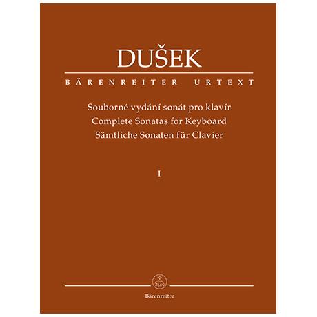 Dušek, F. X.: Sämtliche Sonaten für Klavier Band 1