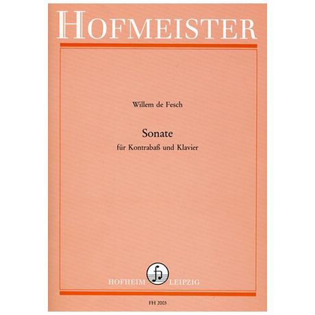 Fesch, W.d.: Sonate e-Moll (mit Fassung in d-Moll)