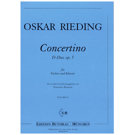 Rieding, O.: Concertino in D-Dur op. 5