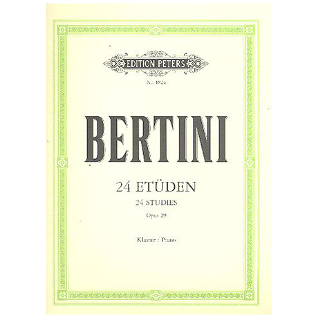Bertini: Etüden op. 29, 32. Vorstudien zu Cramer Band I