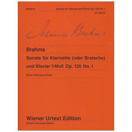Brahms, J.: Violasonate f-Moll, Op. 120/1