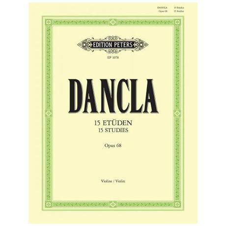 Dancla, J. B. C.: 15 Etüden Op. 68