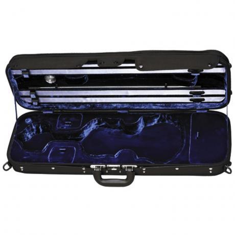 GEWA Maestro Violinkoffer 4/4   schwarz/blau