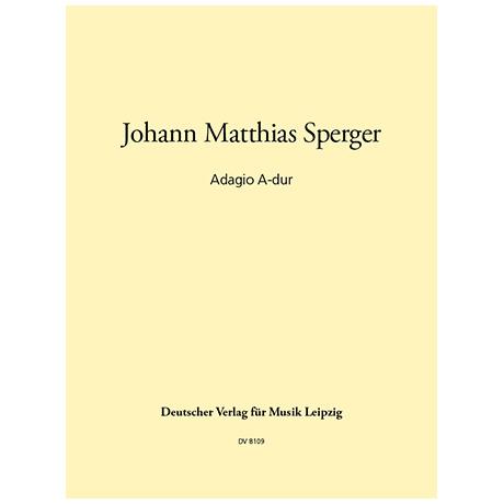 Sperger, J.M.: Adagio A-Dur für Kontrabass und Streichquartett