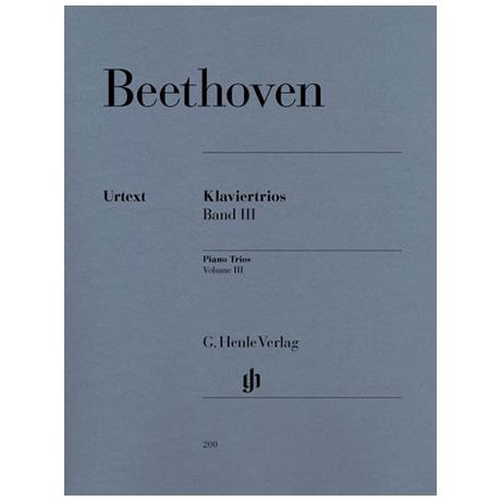 Beethoven, L.v.: Klaviertrios Band 3: Op. 44, WoO 37, 38, 39 (G-, Es-, B-Dur) Urtext