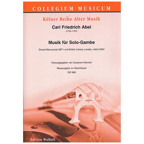 Abel, C.F.: Musik für Solo Gambe