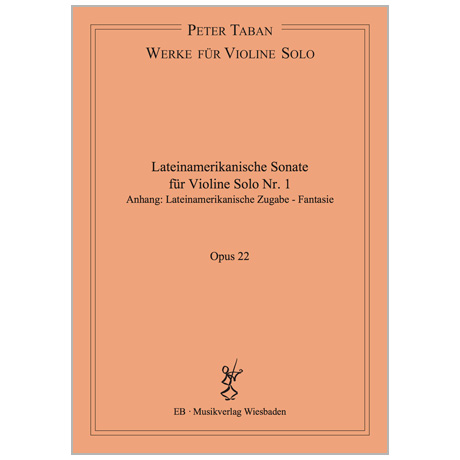 Taban, P.: Lateinamerikanische Sonate Nr. 1 Op. 22
