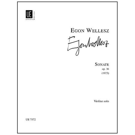 Wellesz, E.: Violinsonate Op. 36