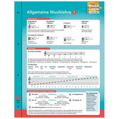 Musik im Überblick: Allgemeine Musiklehre 1