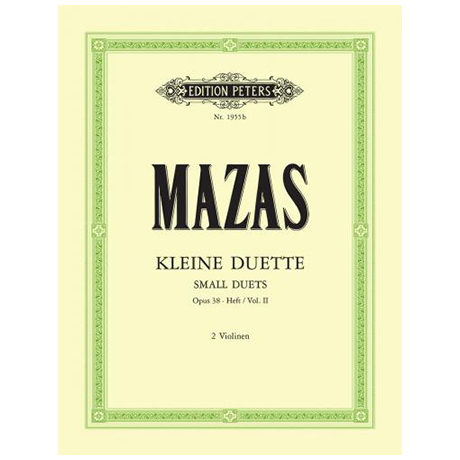 Mazas, J. F.: Kleine Duette Op. 38 Band 2