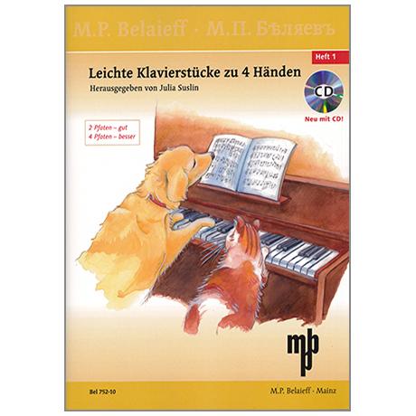 Suslin, J.: Leichte Klavierstücke zu 4 Händen Band 1 (+CD)