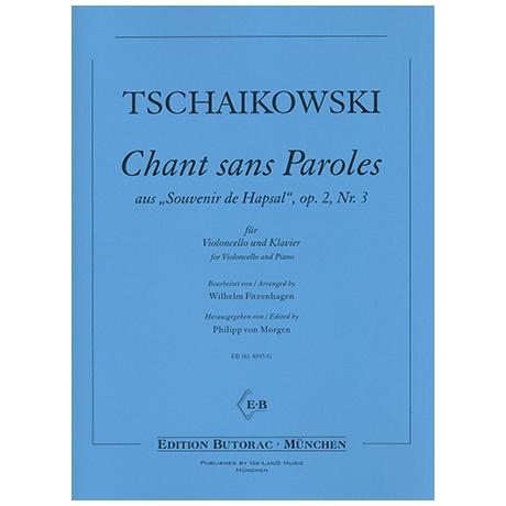 Tschaikowski, P. I.: Chant sans paroles Op. 2/3