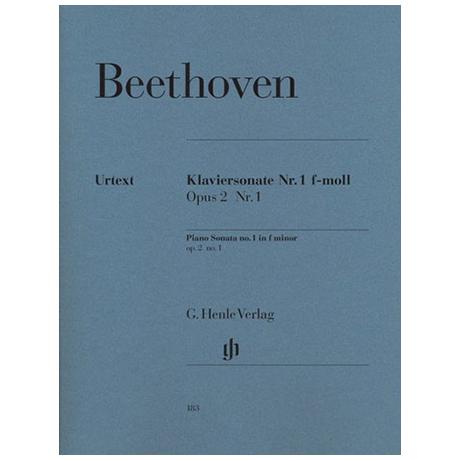 Beethoven, L. v.: Klaviersonate Nr. 1 f-Moll Op. 2,1