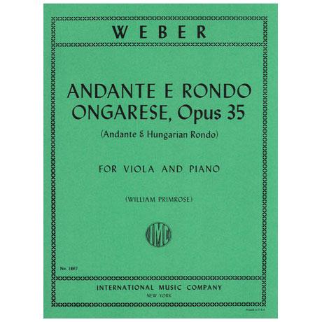 Weber, C.M.v.: Andante & Rondo Ungharese op. 35