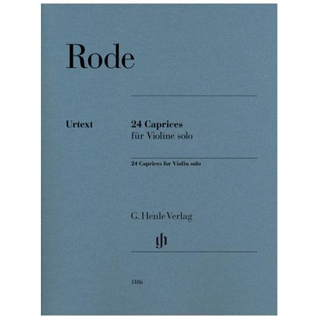Rode, P.: 24 Caprices für Violine solo