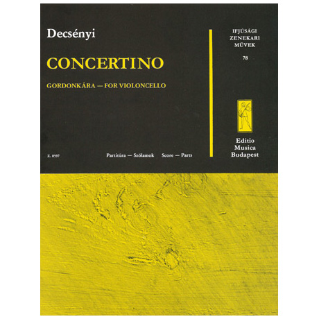 Werke für Jugendorchester - Decsényi: Concertino