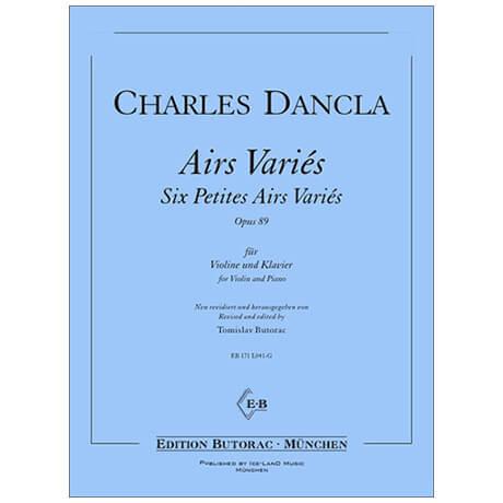 Dancla, J. B. Ch.: Six Petites Airs Variés Op. 89