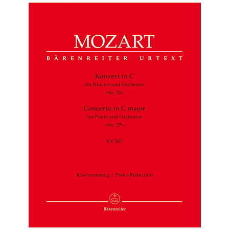 Mozart, W. A.: Klavierkonzert Nr. 25 KV 503 C-Dur