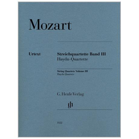 Mozart, W. A.: Streichquartette Band III (Haydn-Quartette)
