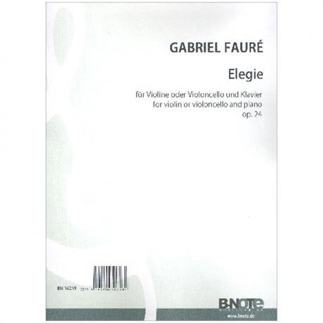 Fauré, G.: Élegie Op. 24