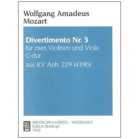 Mozart, W. A.: Divertimento Nr. 4 KV Anh. 229 (439b) B-Dur