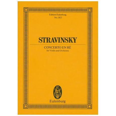 Strawinsky, I.: Violinkonzert in D (1931)